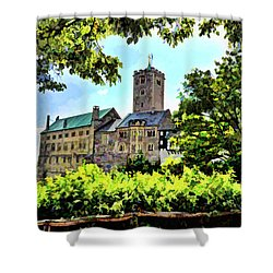 Shower Curtain featuring the photograph Wartburg Castle - Eisenach Germany - 1 by Mark Madere