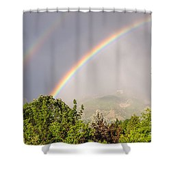 Wasatch Rainbow Shower Curtain by Sue Smith