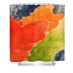 Wash Away Shower Curtain by Andrea Anderegg