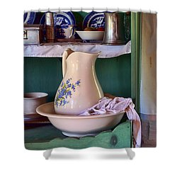 Wash Basin Still Life Shower Curtain by Nikolyn McDonald