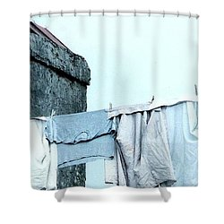 Shower Curtain featuring the photograph Wash Day Blues In New Orleans Louisiana by Michael Hoard