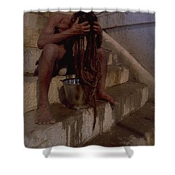 Varanasi Hair Wash Shower Curtain