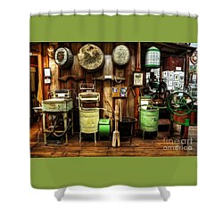 Washing Machines Of Yesteryear Shower Curtain