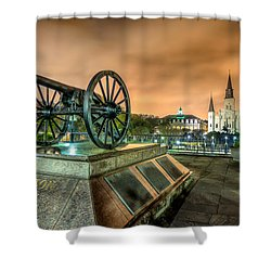 Washington Artillery Park Shower Curtain