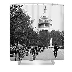 Washington Bicycle Parade Shower Curtain