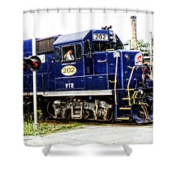 Shower Curtain featuring the photograph Washington County Railroad by Mike Martin