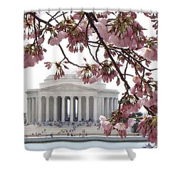 Washington Dc In Bloom Shower Curtain by Jennifer Wheatley Wolf