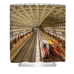Washington Dc Metro Station Xi Shower Curtain