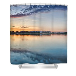 Shower Curtain featuring the photograph Washington Dc Panorama by Sebastian Musial