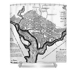 Washington, D.c. Plan, 1792 Shower Curtain by Granger