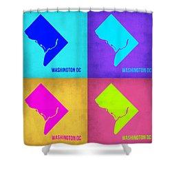 Washington Dc Pop Art Map 1 Shower Curtain by Naxart Studio