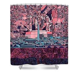 Washington Dc Skyline Abstract 2 Shower Curtain