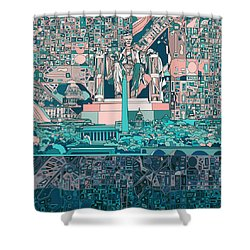 Washington Dc Skyline Abstract 5 Shower Curtain