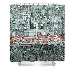 Washington Dc Skyline Abstract Shower Curtain