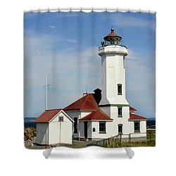Washington Lighthouse Shower Curtain by Art Block Collections