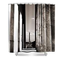 Washington Monument Shower Curtain by Angela DeFrias
