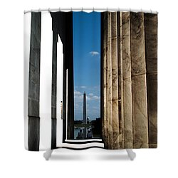 Washington Monument Color Shower Curtain by Angela DeFrias