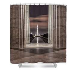 Washington Monument From Lincoln Memorial I Shower Curtain