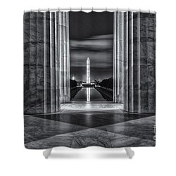 Washington Monument From Lincoln Memorial II Shower Curtain