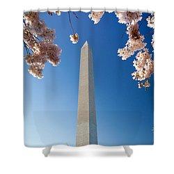 Washington Monument Shower Curtain by Inge Johnsson
