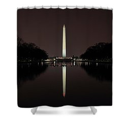 Washington Monument Reflections At Night Shower Curtain