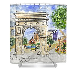 Washington Square Park Shower Curtain