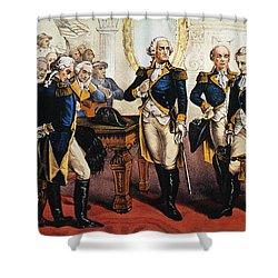Washingtons Farewell Shower Curtain by Granger