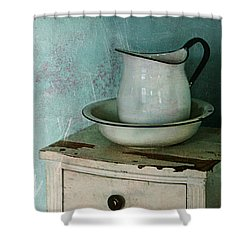 Washstand Still Life Shower Curtain by Nikolyn McDonald