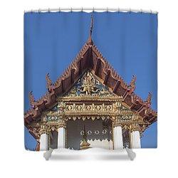 Wat Amarintaram Ubosot Gable Dthb1509 Shower Curtain