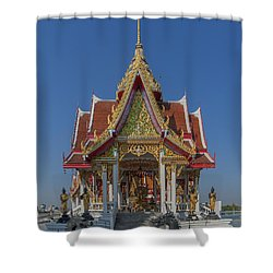 Wat Bukkhalo Central Roof-top Pavilion Dthb1809 Shower Curtain