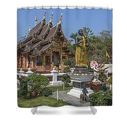 Wat Chedi Liem Phra Ubosot Dthcm0831 Shower Curtain