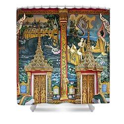 Wat Choeng Thale Ordination Hall Facade Dthp143 Shower Curtain by Gerry Gantt