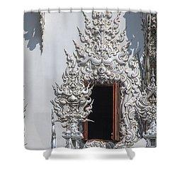 Wat Rong Khun Ubosot Window Dthcr0042 Shower Curtain