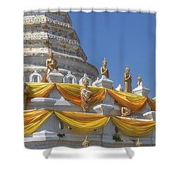 Wat Songtham Phra Chedi Buddha Images Dthb1916 Shower Curtain