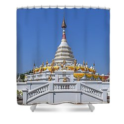 Wat Songtham Phra Chedi Dthb1915 Shower Curtain