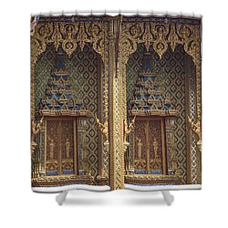 Wat Thung Setthi Ubosot Window Dthb1550 Shower Curtain