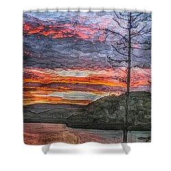 Watauga Lake Sunset Shower Curtain