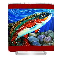 Brook Trout  Shower Curtain by Jackie Carpenter