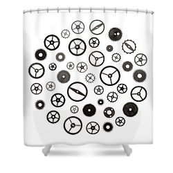 Watch Parts Shower Curtain