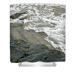 Shower Curtain featuring the photograph Watch Your Step by Brenda Brown
