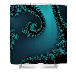 Shower Curtain featuring the digital art Watchers On The Chalcedony Slide by Elizabeth McTaggart