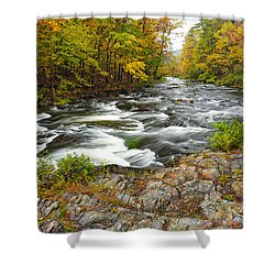 Watching It All Go By  At Beaver's Bend Broken Bow Fall  Foliage Oklahoma Shower Curtain