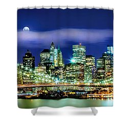 Watching Over New York Shower Curtain by Az Jackson