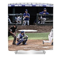 Watching The Ball Shower Curtain by Bob Hislop