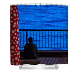 Watching The River Shower Curtain