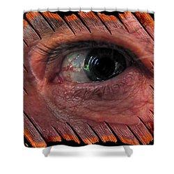 Shower Curtain featuring the digital art Watching You by Maciek Froncisz