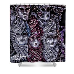 Watching You Venice Italy Shower Curtain by Tom Prendergast