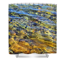 Water Abstract Shower Curtain by Lynda Lehmann