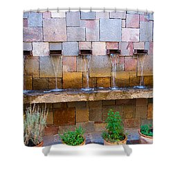 Water Art Shower Curtain