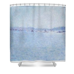 Water At Cannes France Shower Curtain